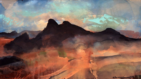 Santa Rita Morning, 1995, original acrylic on canvas SOLD, Giclée prints available.