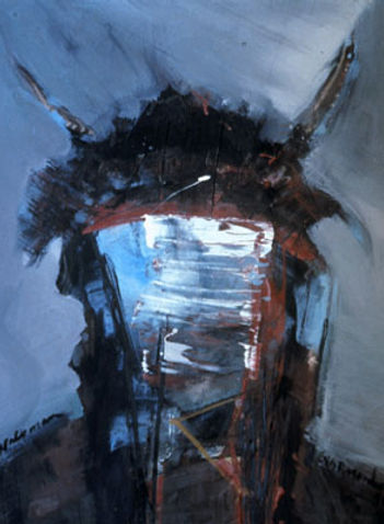 Buffalo Man, 1991, acrylic on canvas, SOLD, Giclée prints available