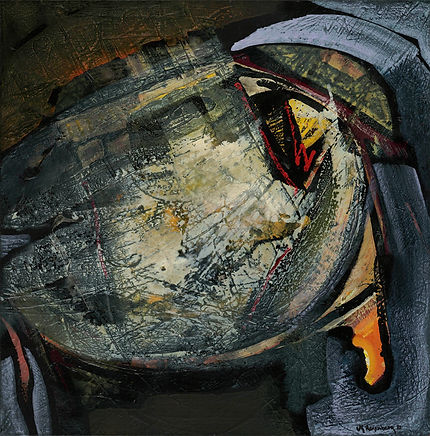 Shaman's Drum, 1987, orignal acrylic SOLD, Giclée prints available