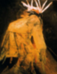 "Deer Dancer I, Giclée print, 18"" x 22"" on heavy archival watercolor paper."
