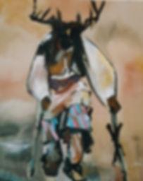 """Deer Dancer II, Giclée print 18"""" x 22"""" on heavy archival watercolor paper"""