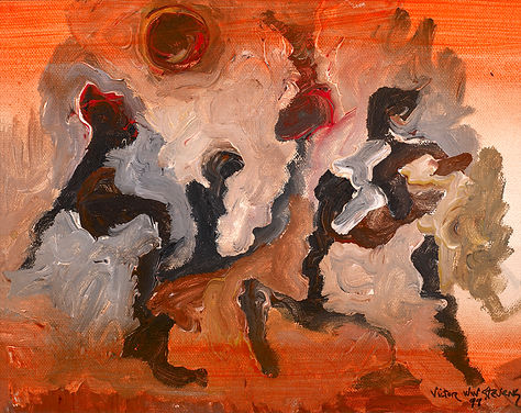 Little Africa, 1999, acrylic painting on canvas
