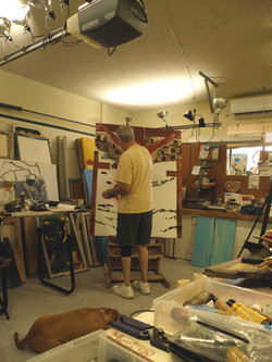Studio, The Sin Eater painting