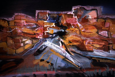 Sedona Canyon Night, 1991