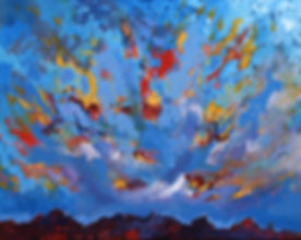 Dine Sky, 2 sizes of Giclée prints offered on heavy archival watercolor paper