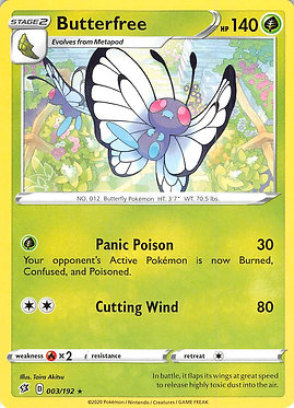 Butterfree - 3/192 - Rare