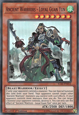Ancient Warriors - Loyal Guan Yun - IGAS-EN012 - Super Rare