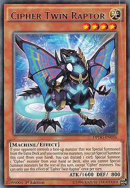 Cipher Twin Raptor - DPDG-EN036 - Rare 1st Edition