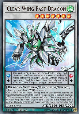 Clear Wing Fast Dragon - DUDE-EN011 - Ultra Rare