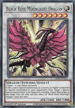 Black Rose Moonlight Dragon (Green) - LDS2-EN112 - Ultra Rare