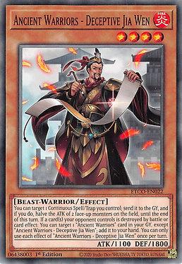 Ancient Warriors - Deceptive Jia Wen - ETCO-EN022 - Common