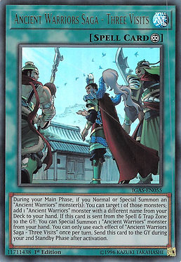 Ancient Warriors Saga - Three Visits - IGAS-EN055 - Ultra Rare
