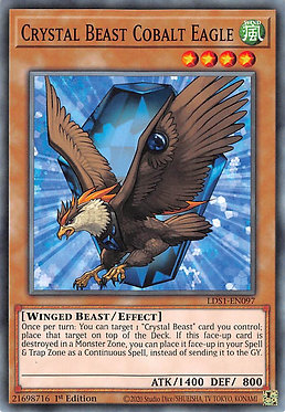 Crystal Beast Cobalt Eagle - LDS1-EN097 - Common