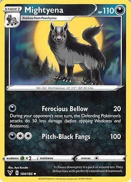 Mightyena - 104/185 - Uncommon