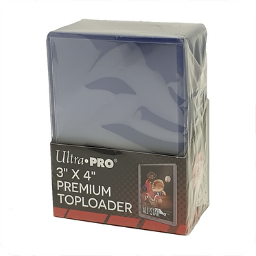 """Ultra Pro - 3"""" x 4"""" (76 x 101.5 mm) Premium Toploader Pk 25 - Clear"""