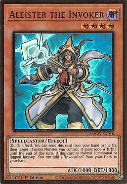 Aleister the Invoker (Alt. Art) - MAGO-EN016 - Premium Gold Rare