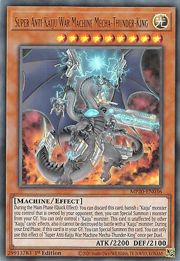 Super Anti-Kaiju War Machine Mecha-Thunder-King - MP20-EN036 - Ultra Rare