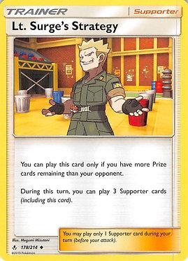 Lt. Surge's Strategy - 178/214 - Uncommon