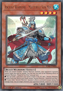 Ancient Warriors - Masterful Sun Mou - IGAS-EN008 - Ultra Rare
