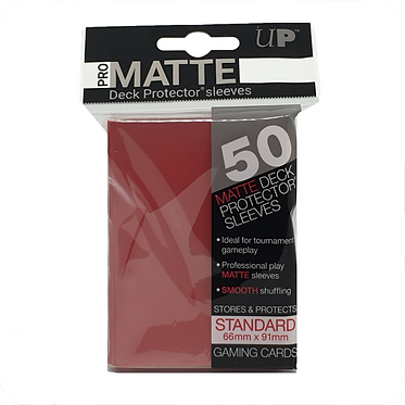 Ultra Pro - Pro Matte Deck Protector Sleeves Standard Size - Red 50pk