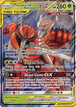 Pheromosa & Buzzwole GX - 1/214 - Ultra Rare
