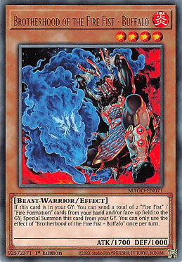 Brotherhood of the Fire Fist - Buffalo - MAGO-EN071 - Rare
