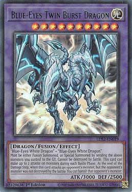 Blue-Eyes Twin Burst Dragon (Green) - LDS2-EN019 - Ultra Rare