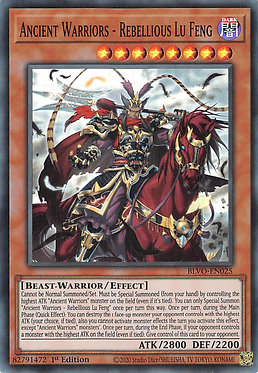 Ancient Warriors - Rebellious Lu Feng - BLVO-EN025 - Super Rare