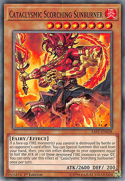 Cataclysmic Scorching Sunburner - SAST-EN028 - Common