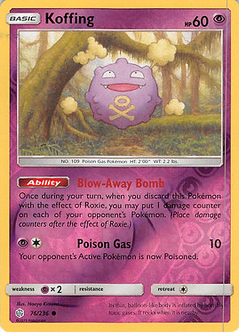 Koffing - 76/236 - Common Reverse Holo