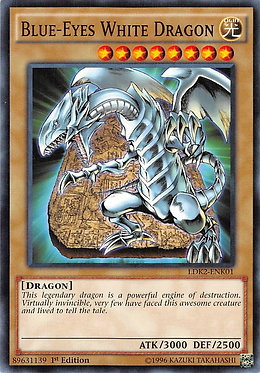 Blue-Eyes White Dragon (Tablet Background) - LDK2-ENK01 - Common