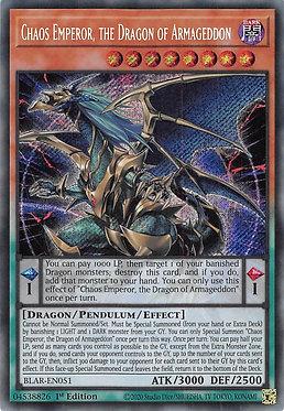 Chaos Emperor, the Dragon of Armageddon - BLAR-EN051 - Secret Rare