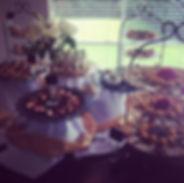 Wedding receptin Buffet display
