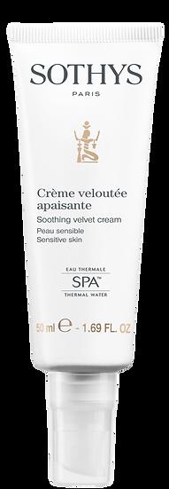 Crème veloutée apaisante Sothys - Soin visage pour peaux sensibles/déshydratées