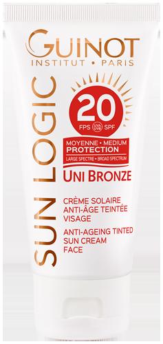 Crème Solaire Anti-Âge Teintée SPF20 - Formule Teintée Moyenne Protection
