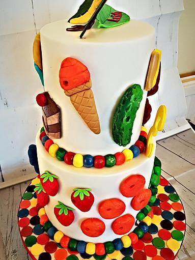 Hungry Caterpillar Themed Cake
