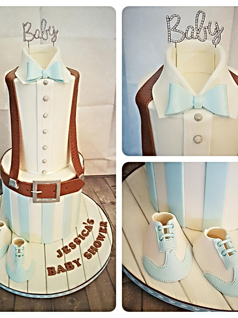 Boys Baby Shower  2 Tiered Cake