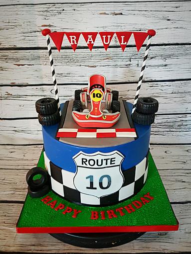 Racing Car Themed Cake
