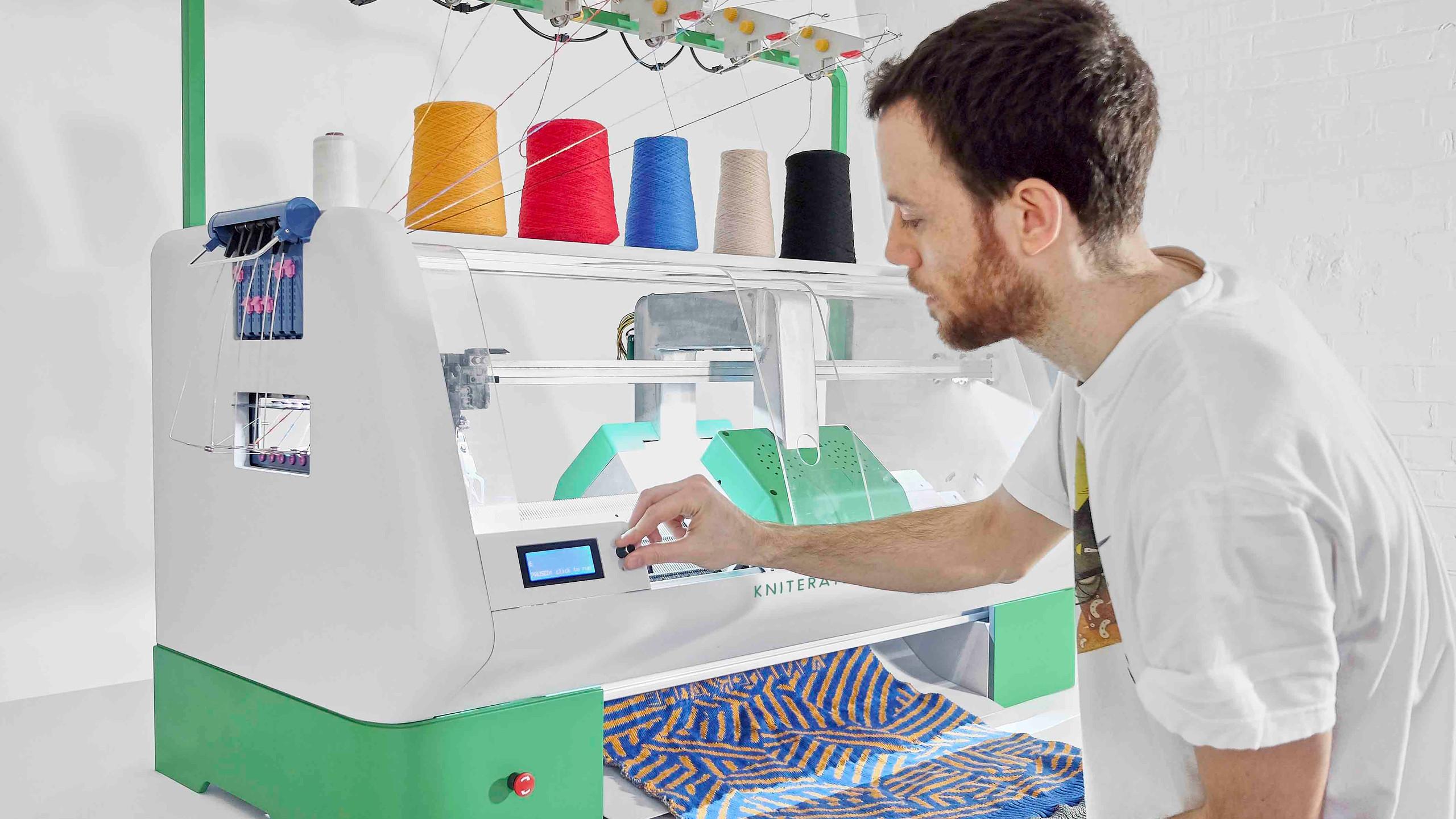 Kniterate, impressora de malha 3D