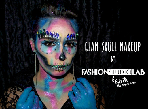 Tutorial Makeup Halloween - Glam Skull