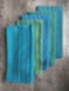Turquoise handwoven tea towels