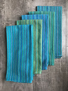 Turquoise handwoven tea towels