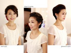 短髮新娘也能打造完全不同的造型感 (試妝)