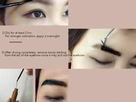 tint your eyebrow, eyebrow tattoo