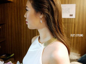 Flo_styling Tips : 新娘髮型分享 The look is very sleek and chic 直髮新娘髮型分享