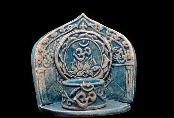 Om Altar Shrine w. Tea Light Votive