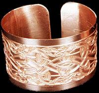 Celtic Knotwork Serpents Ritual Cuff Bracelet