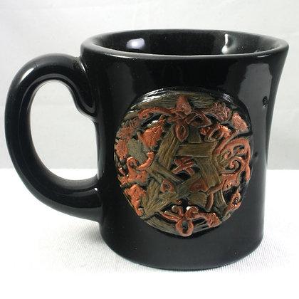 Knotwork Vine Pentacle Mug