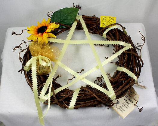 Harvest Moon Pentacle Wreath: Success-Winning