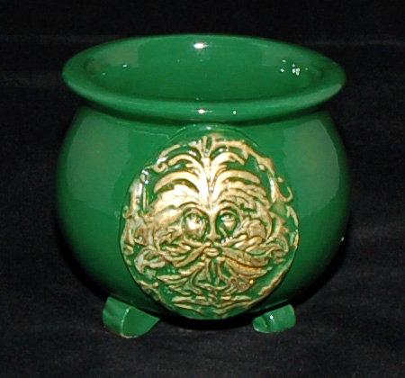 Green Man Altar Cauldron
